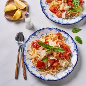 Tomato Lemon Basil Linguine - Flava & Co