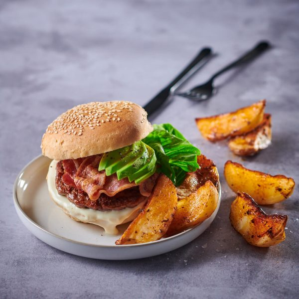 flava and co bacon and avo burger