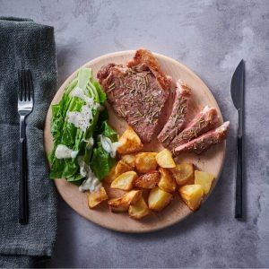 Fresh - Provençale Herb & Mustard Grilled Steak, Roast Potatoes And Cos Lettuce