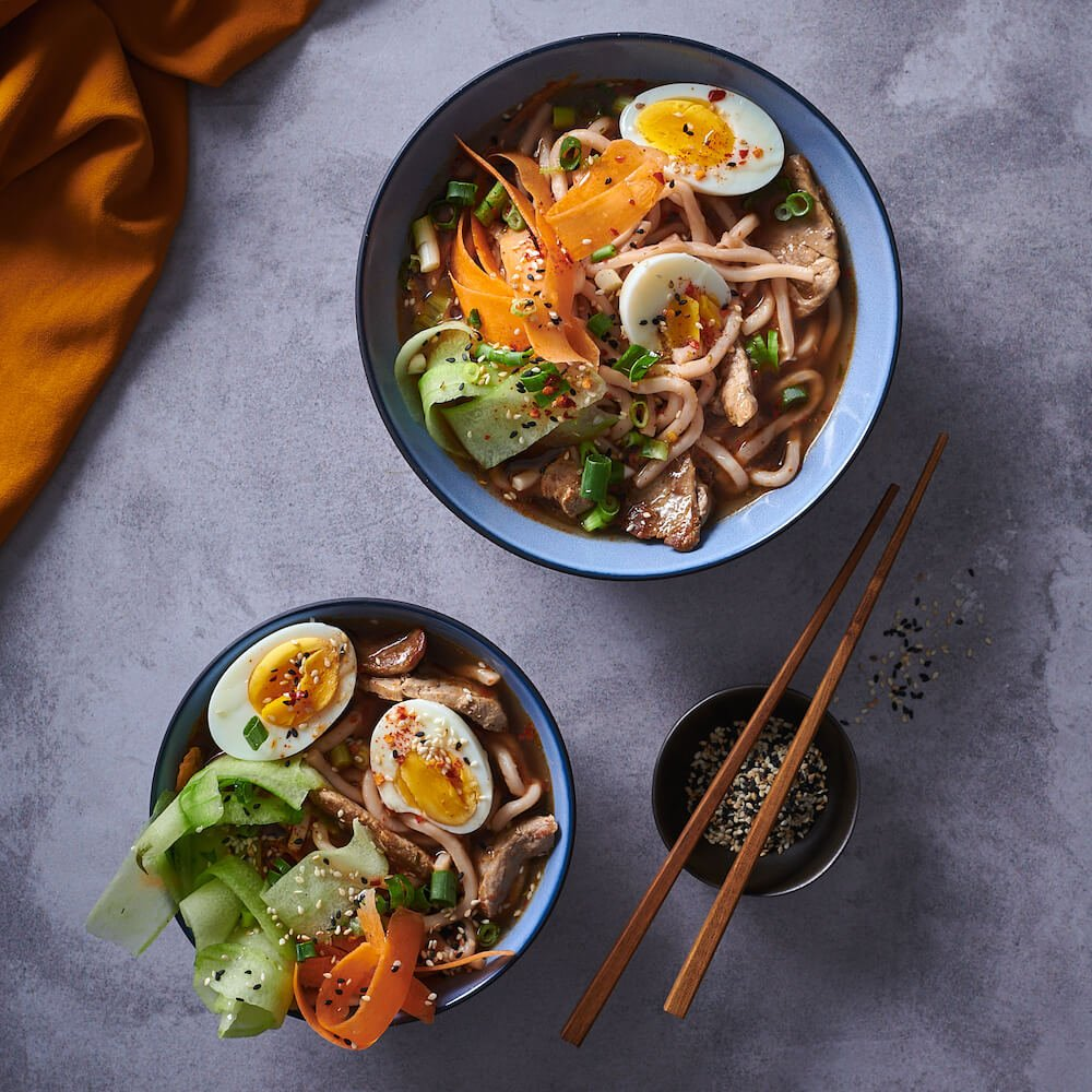 PORK UDON NOODLE BOWL