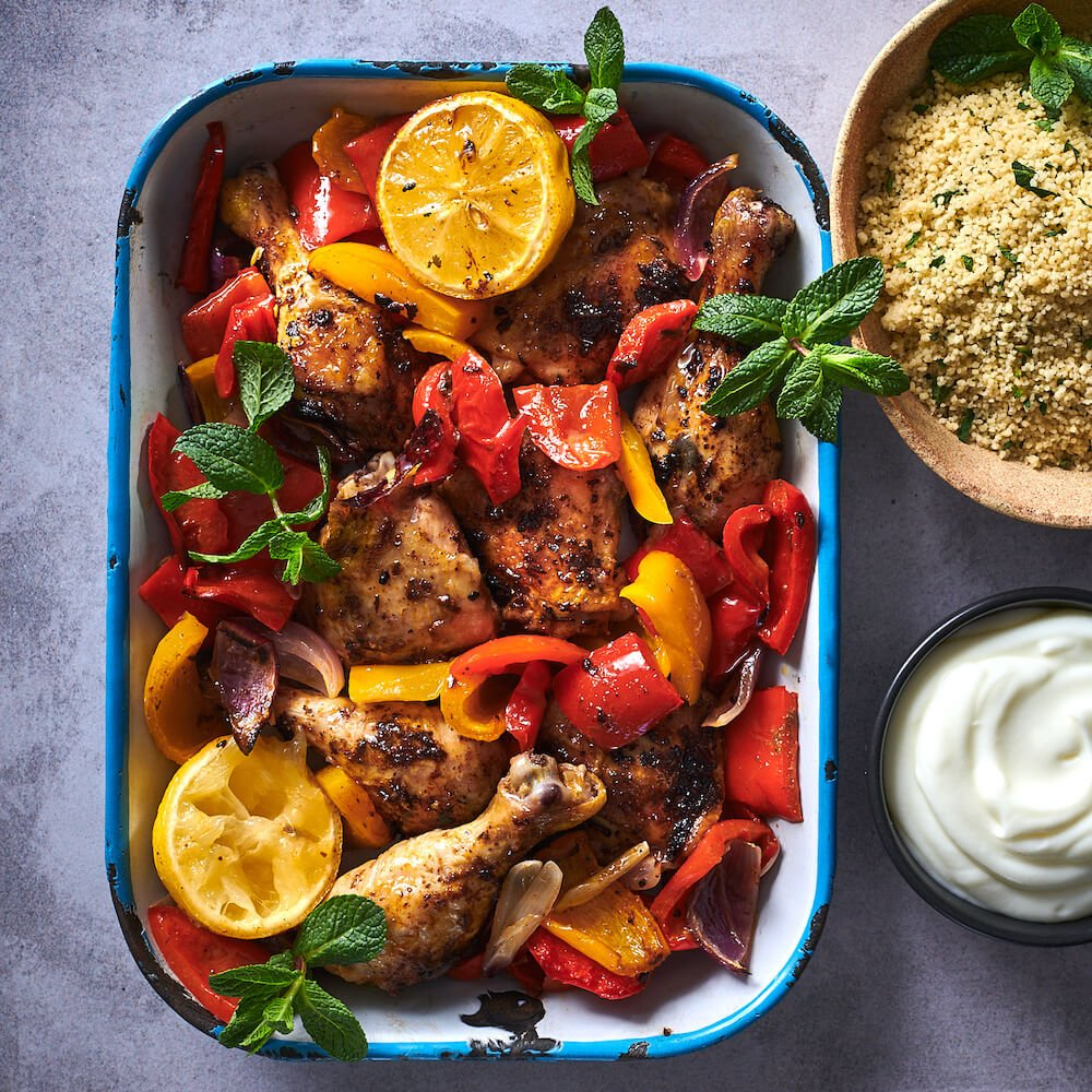 tunisian chicken mixed pepper bake