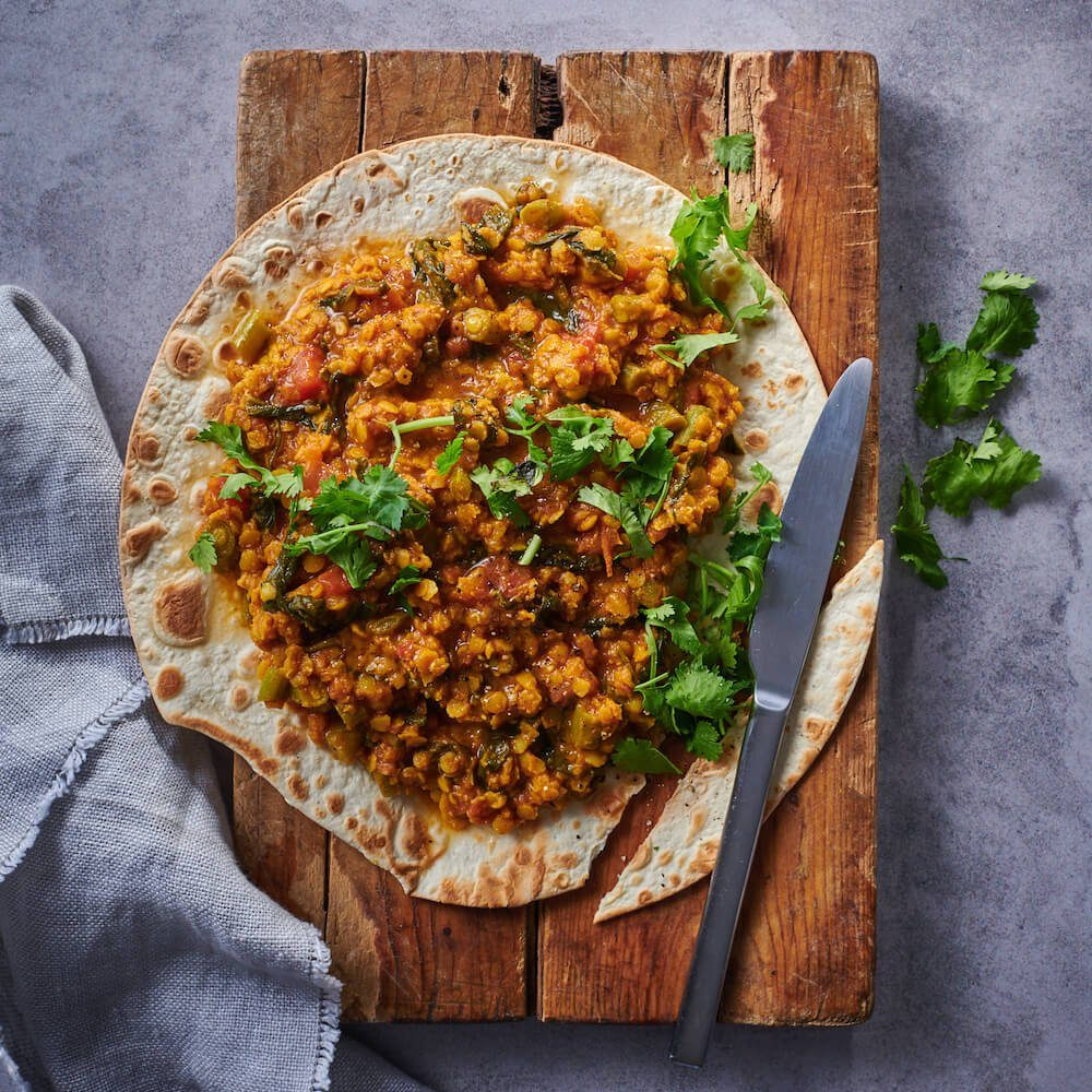 flava and co dhal with flatbread